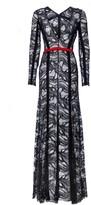Amanda Wakeley Gunma Lipstick & Black Lace Long Dress