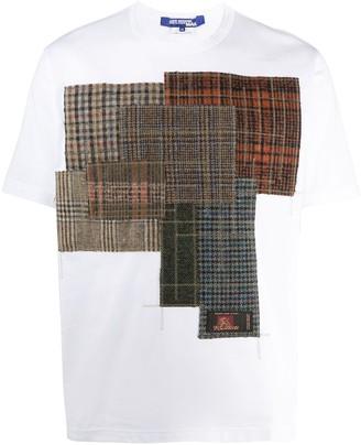 Junya Watanabe Check Pattern Patchwork T-Shirt