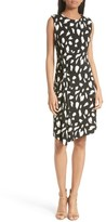BOSS Women's Enavia Twist Front Print Sheath Dress