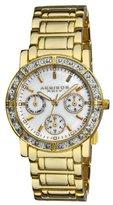 Akribos XXIV Women's AK530YG Diamond Multi-Function Crystal Bracelet Watch