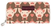 Bungalow 360 Bungalow360 Womens Canvas Large Zip-Around Wallet