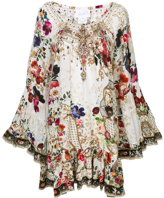 Camilla Fairy Godmother-print silk dress