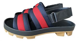 Gucci Web Navy Cloth Sandals