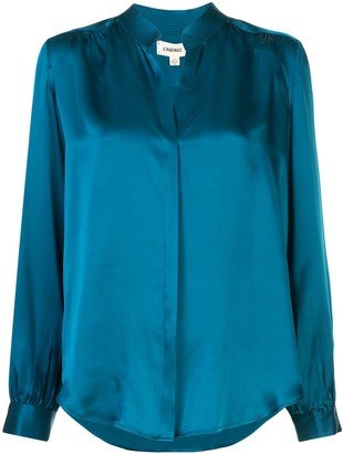 L'Agence Bianca loose-fit silk shirt
