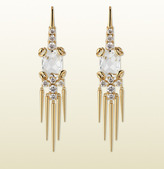 Gucci Horsebit Cocktail Earrings With Topaz And Diamonds