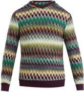 Missoni Zig zag-print slouchy hooded sweater