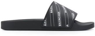 Balenciaga logo print slides