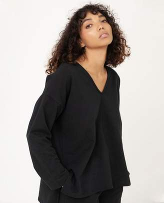 Beaumont Organic Willa Organic Cotton Top In Black - Black / Small