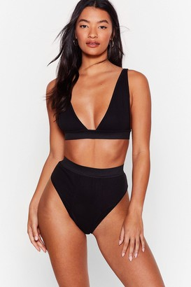 Nasty Gal Womens It Takes Two Baby Bralette and Panty Set - Black