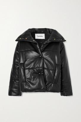Nanushka Quilted Vegan Leather Jacket - Black