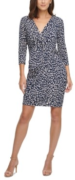 Jessica Howard Petite Animal-Print Sheath Dress