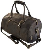 Visconti Brown Leather Duffel Bag