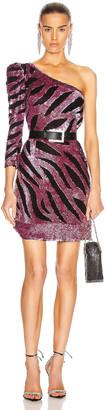 Reve Riche Maxx Mini Dress in Metallic Mauve | FWRD