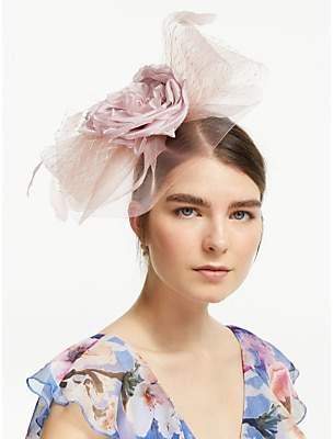 John Lewis & Partners Ruby Statement Flower Veil Fascinator