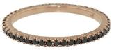 Jade Trau Thin Black Diamond Stacking Band Ring - Rose Gold