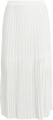 Dion Lee Godet Pleated Knit Midi Skirt