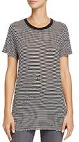 AG Jeans Striped & Distressed Boy Tee