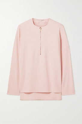 Stella McCartney + Net Sustain Arlesa Stretch-cady Blouse - Pastel pink