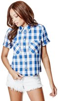 GUESS Beda Boxy Button-Down Shirt