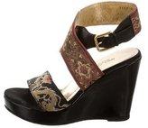 Dolce & Gabbana Embroidered Platform Sandals