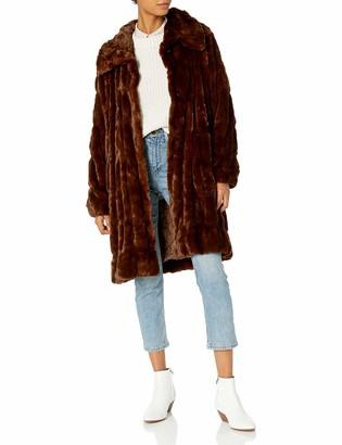Donna Salyer's Fabulous-Furs Donna Salyers' Fabulous Furs Women's Couture Mink Faux Fur Stroller Outerwear Coat