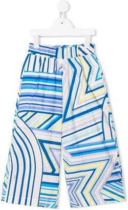 Emilio Pucci Junior geometric print trousers