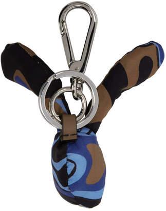 Marni Dance Bunny Multicolor Camo Bunny Head Keychain