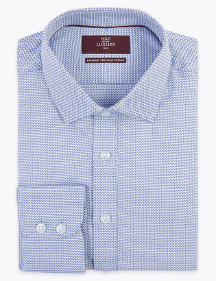 Marks and Spencer Slim Fit Pure Cotton Easy Iron Shirt