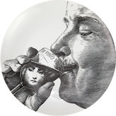 """Fornasetti Sipping A Glass Of Wine"""" Plate"""