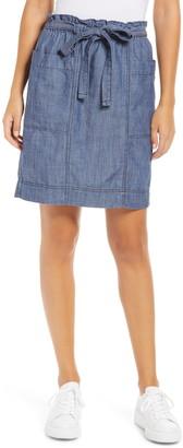 Caslon Tie Waist Utility Skirt