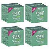 Alba Natural Even Advanced Sea Plus Renewal Night Cream 2 fl oz (4 pack)