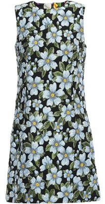 Dolce & Gabbana Floral-jacquard Mini Dress