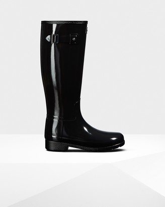 Hunter Women's Original Refined Tall Gloss Rain Boots