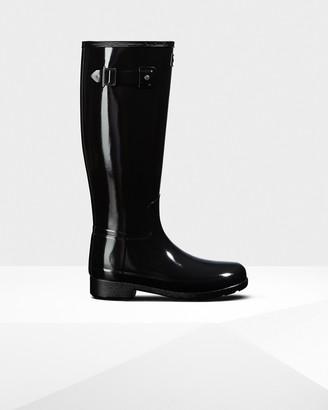 Hunter Women's Original Refined Tall Gloss Rain Boots