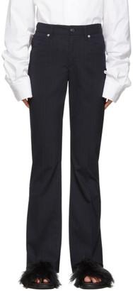 MM6 MAISON MARGIELA Blue 5-Pocket Dress Pants