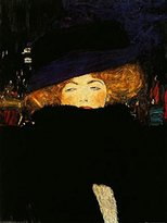 Gustav 1art1 Posters Klimt Poster Art Print - Lady With Hat (32 x 24 inches)