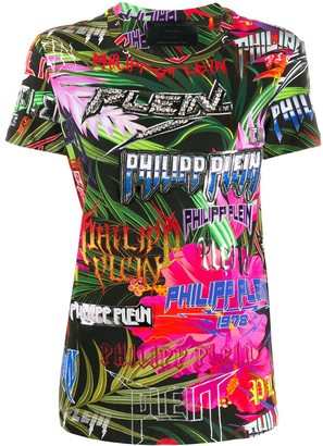 Philipp Plein Jungle Rock embellished T-shirt