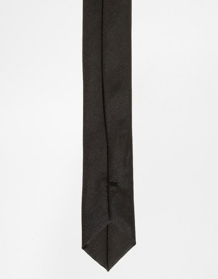Asos Slim Tie In Black