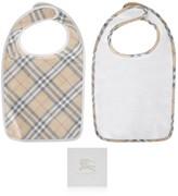 Burberry White & Check Baby Bib Gift Set (2 Piece)