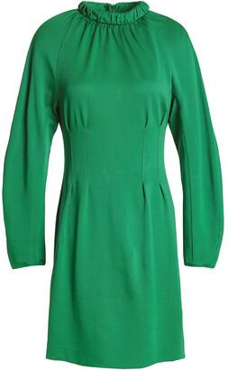 Tibi Cutout Gathered Stretch-pique Mini Dress