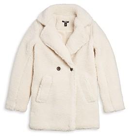 Aqua Girls' Faux Shearling Coat, Big Kid - 100% Exclusive
