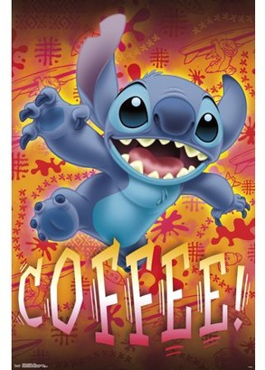Trends International Lilo and Stitch - Coffee Poster and Mount Bundle