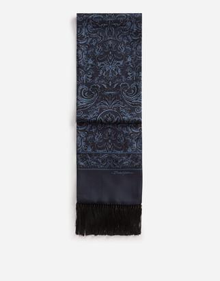 Dolce & Gabbana Silk Scarf In Lion Print