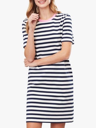 Joules Liberty Jersey Dress, Navy Stripe