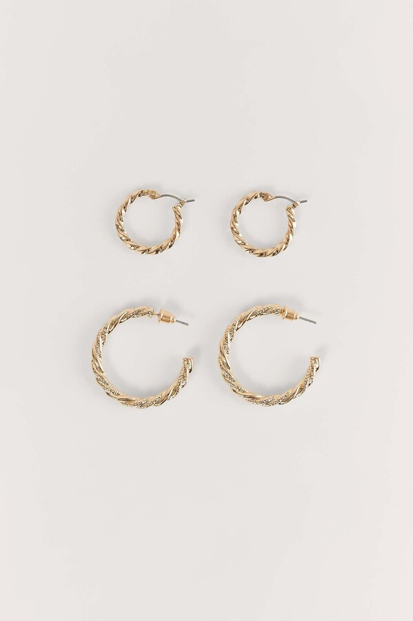 Recycled Braided Earrings Set