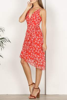 Adelyn Rae Tessie Printed Asymmetrical Dress