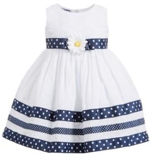 Blueberi Boulevard Baby Girls Dot-Print Eyelet Dress