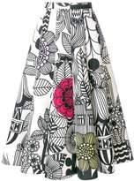Junya Watanabe sketch print midi skirt