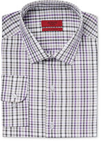 Alfani Men's Fitted Performance Purple Check Dress Shirt, Only at Macy's