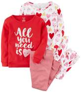 "Carter's Girls 4-12 All You Need is Heart"" Tops & Bottoms Pajama Set"